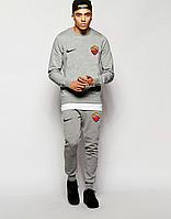 Спортивный костюм Рома, Roma, Nike, Найк, полностью серый, ф4869