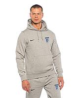 Спортивный костюм сборной Англии, England, Nike, Найк, серый, с капюшоном, ф4875