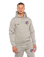 Спортивный костюм Атлетико, Atletico, Nike, Найк, серый, с капюшоном, ф4878