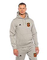 Спортивный костюм сборной Испании, Spain, Adidas, Адидас, серый, с капюшоном, ф4886