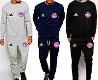 Спортивный костюм Бавария, Адидас, Bayern, Adidas, серый, синий, черный, ф4905