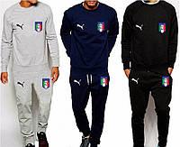 Спортивный костюм сборной Италии, Italy, Puma, Пума, серый, синий, черный, ф4914