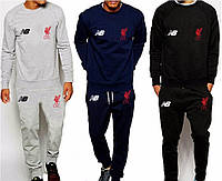 Спортивный костюм NB-Liverpool, Ливерпуль, Нью Беленс, серый, синий, черный, ф4915