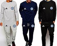 Спортивный костюм Adidas-Chelsea, Челси, Адидас, серый, синий, черный, ф4926