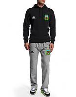 Спортивный костюм сборной Аргентины, Argentina, Adidas, Адидас, черная кофта, серые штаны, ф4930