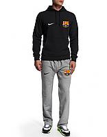 Спортивный костюм Nike-Barselona, Барселона, Найк, черная кофта, серые штаны, ф4933