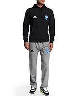 Спортивный костюм Динамо, Adidas, Адидас, черная кофта, серые штаны, ф4938