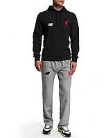Спортивный костюм NB-Liverpool, Ливерпуль, Нью Беленс, черная кофта, серые штаны, ф4942