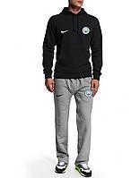 Спортивный костюм Манчестер Сити, MC, Nike, Найк, черная кофта, серые штаны, ф4943