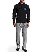 Спортивный костюм ПСЖ, PSG, Nike, Найк, черная кофта, серые штаны, ф4946