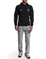 Спортивный костюм Сборной Франции, France, Nike, Найк, черная кофта, серые штаны, ф4952