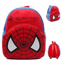 Детский рюкзак для мальчика Человек Паук, Спайдермен, Spiderman. Плюшевый рюкзачок для садика