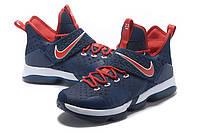 Мужские баскетбольные кроссовки Nike LeBron 14 (Bred), фото 1