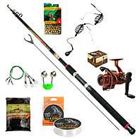 Рыболовный набор 9в1 Спиннинг Тест 100-300, катушка 4000 4BB