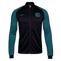 Спортивная олимпийка (кофта) Nike-Barselona, Барселона, Найк, черная, ф4956