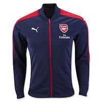 Спортивная олимпийка (кофта) Arsenal-Puma, Арсенал-Пума, синяя, ф4957