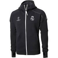 Спортивная олимпийка (кофта) Реал Мадрид,  Real Madrid, черная, ф4958