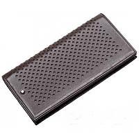 Кожаный кошелек Montblanc MOD-902С коричневый