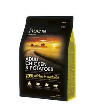 Сухой корм Profine Adult Chicken&Potatoes для собак всех пород курица и картофель, 3 кг