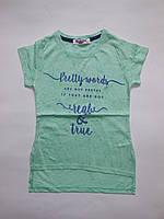 Детская туника с коротким рукавом для девочек DOMINIK от 110 до 128 см рост.