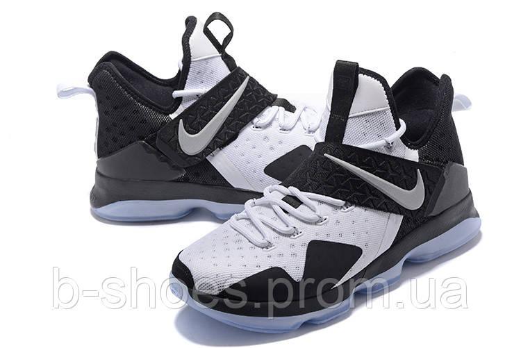 Мужские баскетбольные кроссовки Nike LeBron 14 (White/Black)