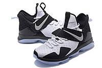 Мужские баскетбольные кроссовки Nike LeBron 14 (White/Black), фото 1