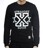 Весенний свитшот Ястребь «Straight Edge» черный, есть опт, фото 1