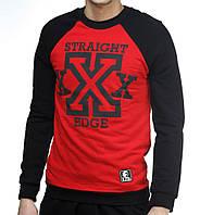 Весенний свитшот Ястребь «Straight Edge» черно-красный, есть опт, фото 1