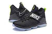 Мужские баскетбольные кроссовки Nike LeBron 14 (Black/Lime), фото 1