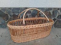 Плетеная переносная люлька из лозы, фото 1