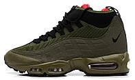 Мужские высокие кроссовки Nike Air Max 95 Sneakerboot (Найк Аир Макс) хаки