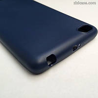 Силиконовый матовый чехол для Xiaomi Redmi 3 (синий)