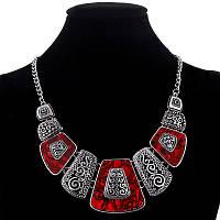 Винтажное ожерелье с красными вставками (Подвеска, колье)