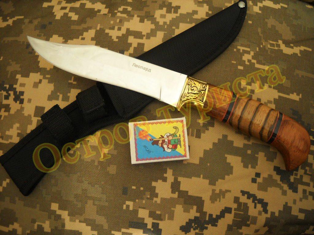 Нож охотничий Леопард сталь 65х13