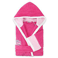 Розовый махровый  халат для девочек 14 -16 лет