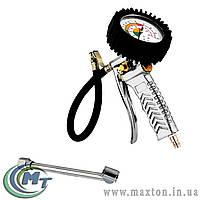 Пневмопистолет для подкачки колес с манометром 0-12 бар, насадка для грузовых автомобилей