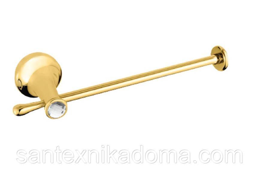 Держатель для туалетной бумаги, золото, кристаллы