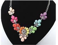 Радужное ожерелье с камнями (Подвеска, колье)