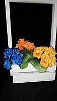 Искусственные цветы - разноцветная роза, выс. 20 см., 20 шт. в упаковке, 6.07 гр., фото 1