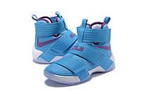 Детские баскетбольные кроссовки Nike LeBron Zoom Soldier 10 (University Blue), фото 1