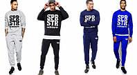 Спортивный костюм Adidas синий, молодежный, ф4989