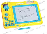 Доска для рисования 804/27006, магнитная, счеты, 2 штампа, развитие и обучение ребенка
