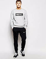 Спортивный костюм Nike серый верх, черный низ, молодежный, ф5015