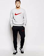 Спортивный костюм Nike серый верх, черный низ, ф5033