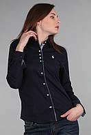 Рубашка женская (реплика) Polo ralph lauren синего цвета