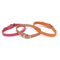 Coastal Circle-T Fashion кожаный ошейник для собак, розовый, 1,6смХ35см