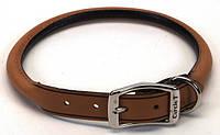 Coastal Circle-T круглий кожаный ошейник для собак, шоколад, 1,6смХ50см
