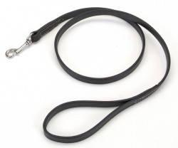 Coastal Circle-T кожаный поводок для собак, черный, 2смХ1,2м