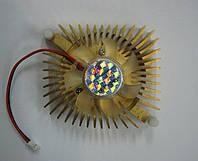 Вентилятор золотистый большой квадратный