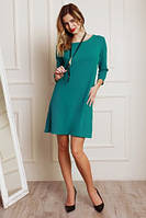 Стильное бирюзовое платье с красивой подвеской